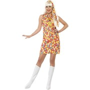 Adult Flower Hippy Costume Large (Women's 16-18)