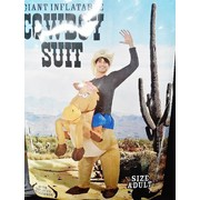 Adult Inflatable Cowboy w- Horse Costume Pk1