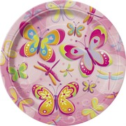 Butterflies & Dragonflies Plates (7in) Pk 8