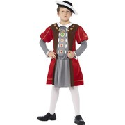 Horrible Histories Henry VIII Child Costume (Large, 10-12 Years) Pk 1