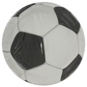 Soccer Party Plates - Small 17cm 3D Soccer Ball Pk8