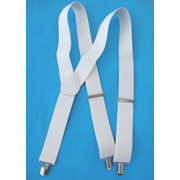 Adult White Braces - Suspenders Pk 1