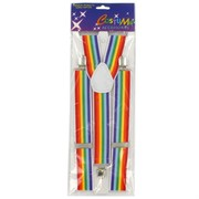 Trouser Braces Rainbow Pk1