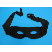 Black Bandit Mask With Ties Pk 1