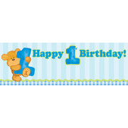 Bears 1st Birthday Boy Giant Party Banner (152 x 50.8cm) Pk 1