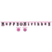 Jointed Banner  Super Stylish Birthday 2.2m Pk1