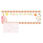 Sweet At One Girl Giant Party Banner with Letter Stickers (152 x 50.8cm) Pk 1