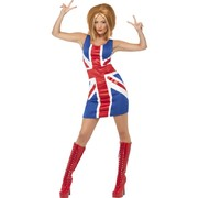 Adult Ginger Power Union Jack Dress (Small) Pk 1