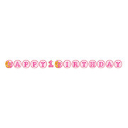1st Birthday Girl Bears Circular Ribbon Banner (1.67m) Pk 1