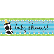 Baby Cow Print Boy Giant Party Banner (152 x 50.8cm) Pk 1