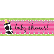 Baby Cow Print Girl Giant Party Banner (152 x 50.8cm) Pk 1