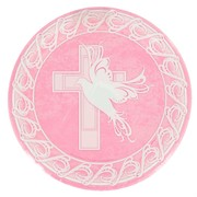 Plates 9in Dove Cross Pink Pk8 Me