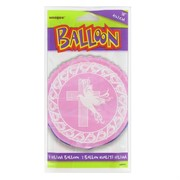 Pink Dove & Cross 18in Foil Balloon Pk 1