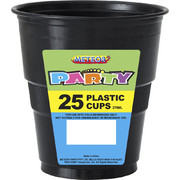 Black Plastic Cups (9oz-270ml) Pk 25
