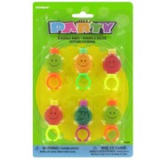 Party Favours - Smile Bubble Rings Pk 6