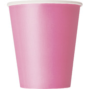 Hot Pink Cups (9oz) Pk 8
