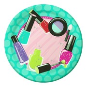 Sparkle Spa Party 7in. Paper Plates Pk 8