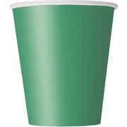 Emerald Green 9oz Paper Cups Pk 8
