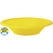 Yellow Plastic Bowls 178mm Pk 8