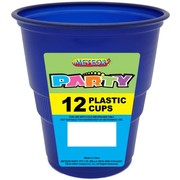 Navy Blue Plastic Cups (9oz-270ml) Pk 12