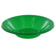 Emerald Green Plastic Bowls - Medium 17cm Pk8