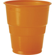 Orange Plastic Cups (9oz-270ml) Pk 12