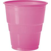 Hot Pink Plastic Cups (9oz-270ml) Pk 12