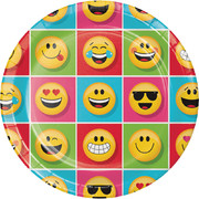 Show Your Emojions Emoji 9in. Paper Plates Pk 8