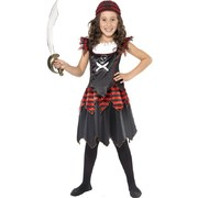 Child Gothic Pirate Girl Costume - Small 4-6 Yrs