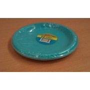 Caribbean Teal 7in. Plates Pk 12