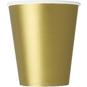 Gold 9oz Cups Pk 8