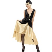 1920s Gatsby Girl Dress with Accessories Adult Costume (Size Large / 16-18)