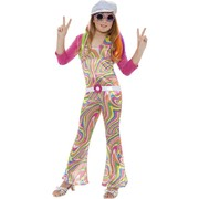 Groovy Glam Girl Child Costume (Medium, 7-9 Yrs) Pk 1