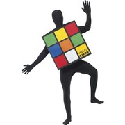 Adult Unisex Rubiks Cube Top Costume - CUBE TOP ONLY
