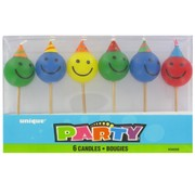 Candle Picks Happy Face Pk6