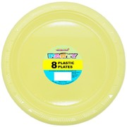 Soft Yellow Plastic Plates (23cm) Pk 8