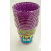 Pretty Purple Plastic Cups (9oz / 270ml) Pk 12