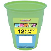 Apple Green Plastic Cups (9oz-270ml) Pk 12