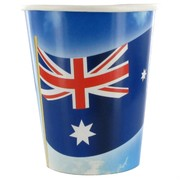 Cups 9oz Australian Flag Pk8