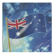 Napkins Lunch Australian Flag Pk16