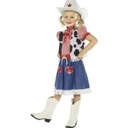 Child Cowgirl Sweetie Costume - Medium 7-9  Yrs