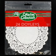 White Round Doilies 166mm Pk24