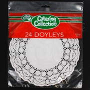 White Round Doilies 215mm Pk24