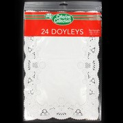 White Rectangle Doilies 258x372mm Pk24