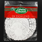 White Round Doilies Assorted Sizes Pk24