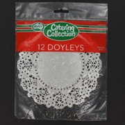 Silver Round Doilies 166mm Pk12