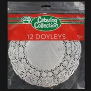 Silver Round Doilies 215mm Pk12
