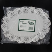 White Oval Doilies 260mm x 356mm Pk250