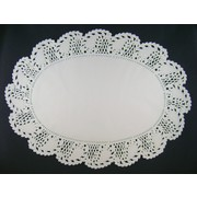 White Oval Doilies 260mm x 356mm Pk 1000