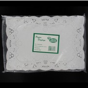 White Rectangular Doilies 254mm x 368mm Pk250